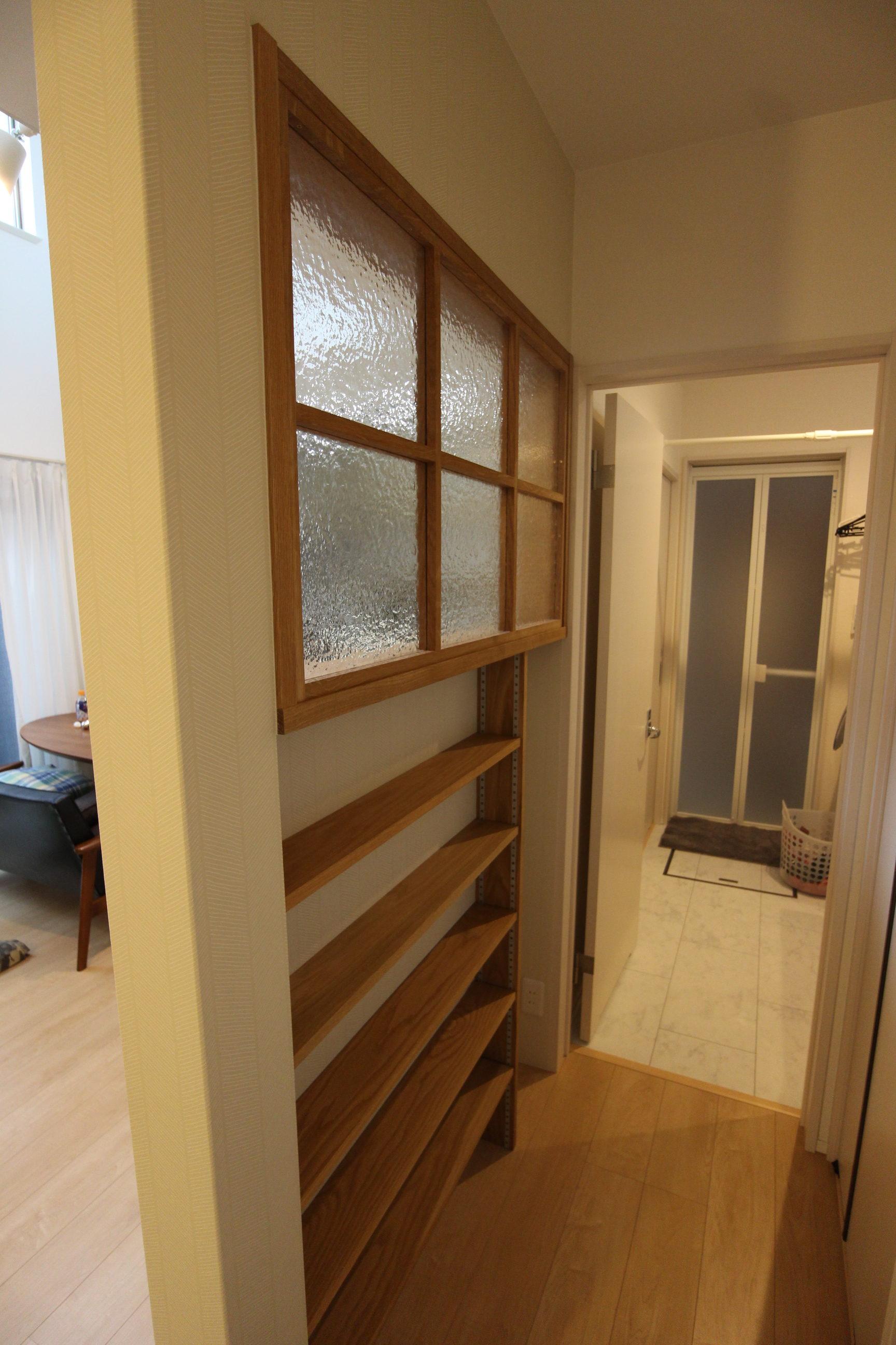 ホワイトオーク|室内窓|無垢材|大阪府|豊中市|戸建て