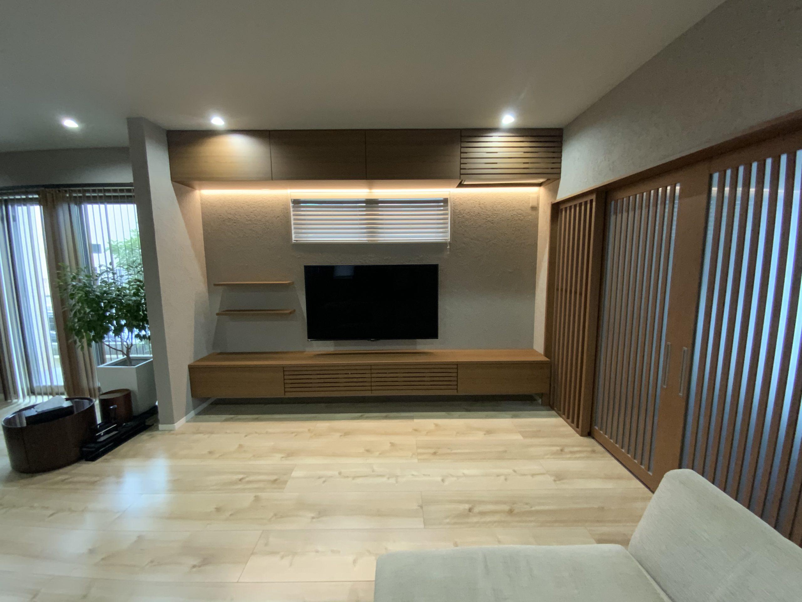 洒落TVボード エアコン収納  大阪府 東豊中